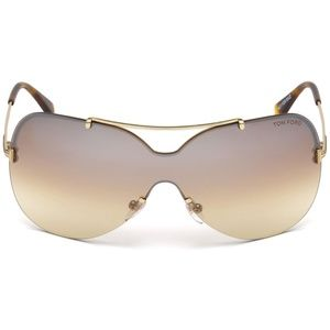 Tom Ford Ondria Sunglasses Gold w/Brown Lens